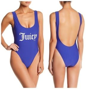 Juicy Couture Juicy Verbiage One Piece Swimsuit